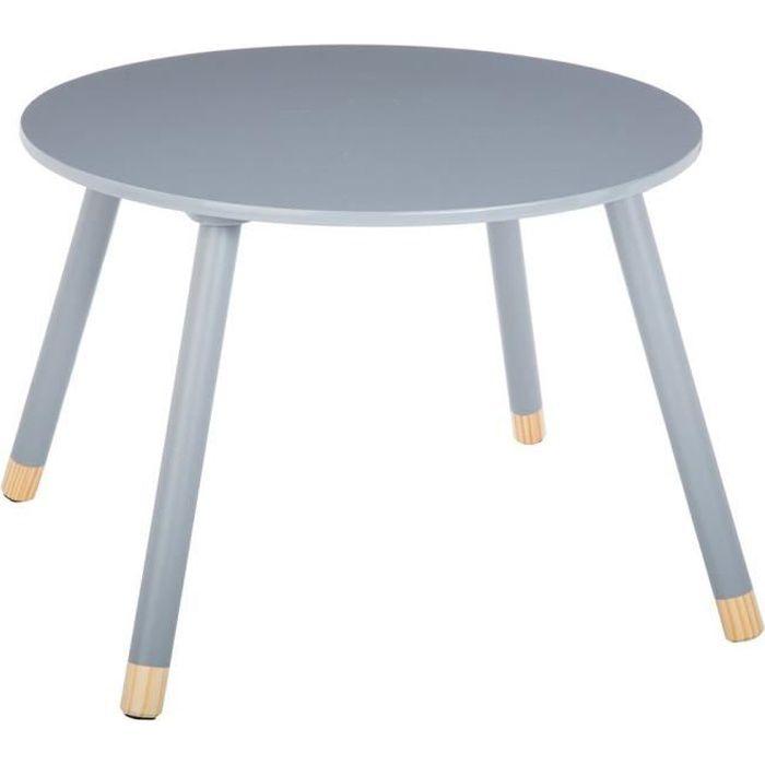 table douceur gris pour enfant en bois 60cm achat vente table b b 3560238909096 cdiscount. Black Bedroom Furniture Sets. Home Design Ideas