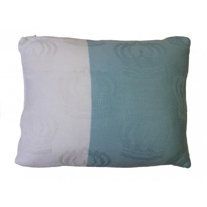 Coussin bébé moderne rectangle 30x40 pour chambre bleu blanc ...