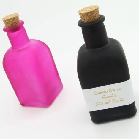 flasque mignonette mariage opaque 5cl x10 couleurs fus - Mignonette Mariage