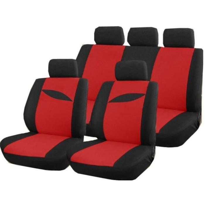 Housse pour si ge voiture scenario rouge et noir achat for Housse pour voiture