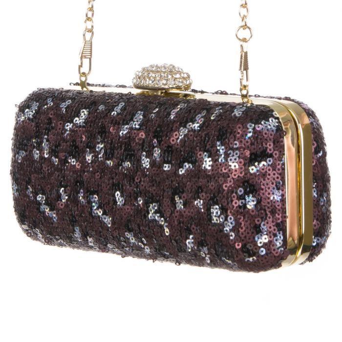 Sac a main pochette bandouliere clutch taupe achat - Pochette rangement pour sac a main ...