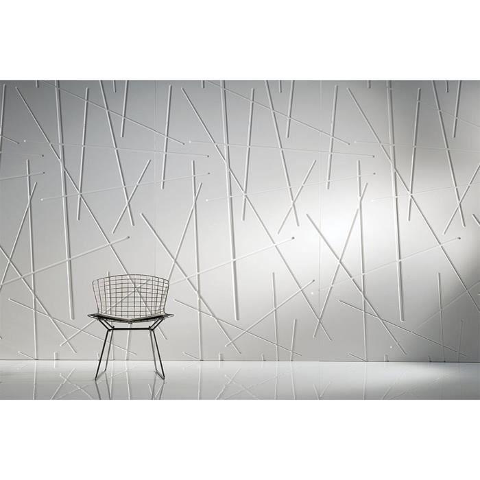 panneau 3d lines achat vente papier peint cdiscount. Black Bedroom Furniture Sets. Home Design Ideas