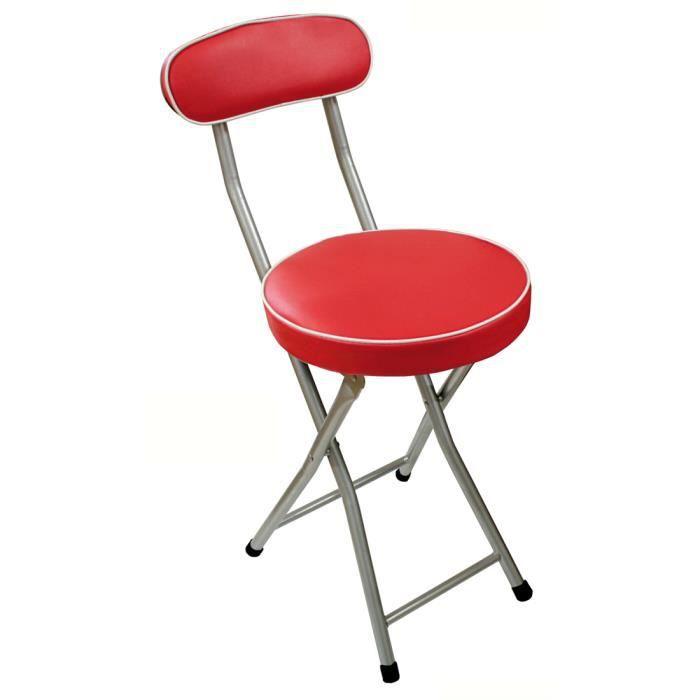 chaise pliable pop m tal assise mousse rouge achat vente chaise rouge cadeaux de no l. Black Bedroom Furniture Sets. Home Design Ideas