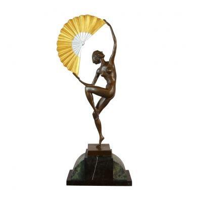 statue en bronze art d co danseuse achat vente. Black Bedroom Furniture Sets. Home Design Ideas