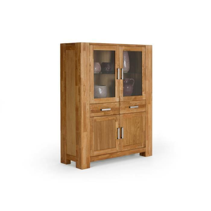 buffet haut thanas en ch ne huil marron massivum achat vente buffet bahut buffet haut. Black Bedroom Furniture Sets. Home Design Ideas