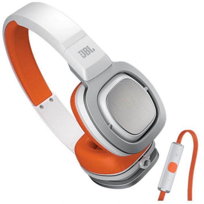 casque jbl j55i blanc et orange casque couteur prix pas cher cdiscount. Black Bedroom Furniture Sets. Home Design Ideas