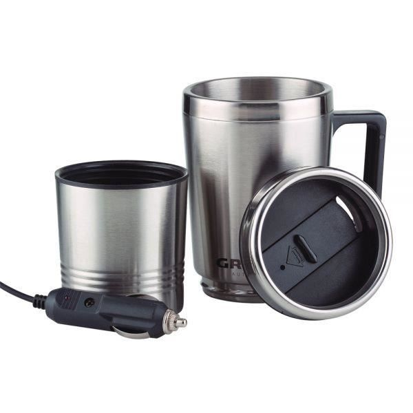 Mug chauffant lectrique inox 0 5l couvercle bec verseur prise allume cigare achat vente - Mini bouilloire electrique 0 5 litre ...