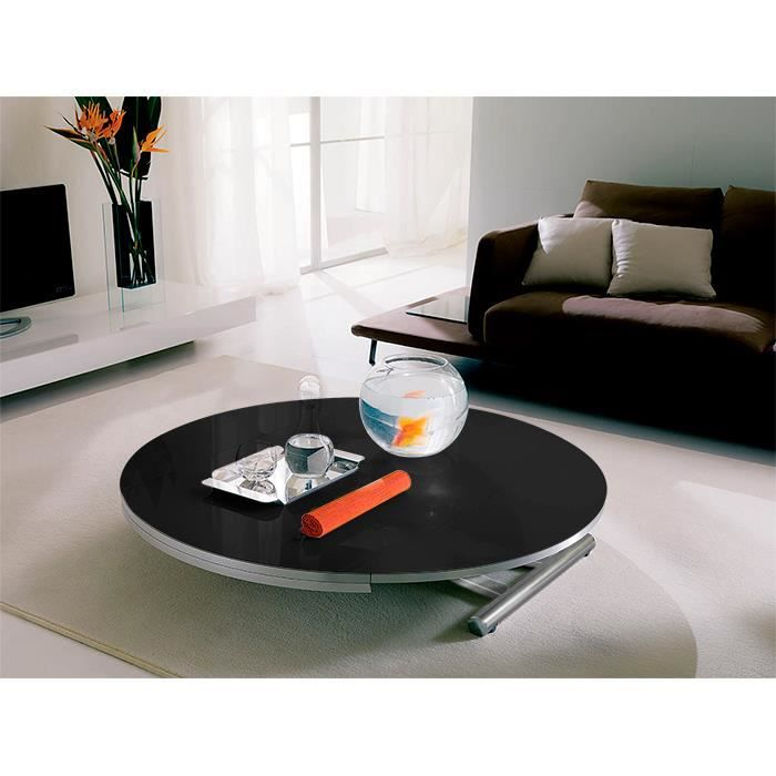 Table relevable et extensible rondo noir allonges achat vente table manger table relevable - Table relevable et extensible ...