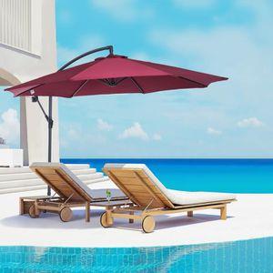 parasol deporte avec manivelle achat vente parasol deporte avec manivelle pas cher les. Black Bedroom Furniture Sets. Home Design Ideas