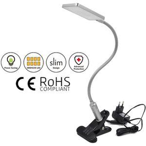 LAMPE A POSER Lampe de Bureau LED à Pince Argent Lampe de Chevet