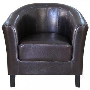 fauteuil simili cuir noir achat vente fauteuil simili cuir noir pas cher cdiscount. Black Bedroom Furniture Sets. Home Design Ideas