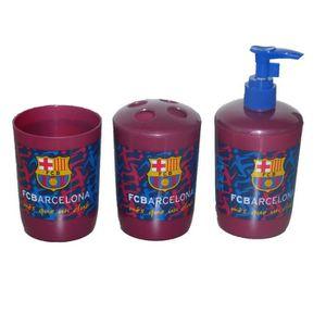 Set accesoires de salle de bain fc barcelone homme et - Range brosse a dent ...