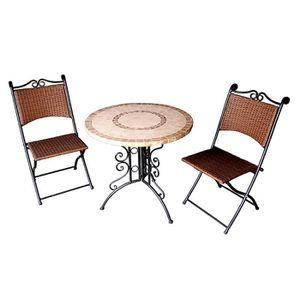 table et chaise en fer forge achat vente table et chaise en fer forge pas cher cdiscount. Black Bedroom Furniture Sets. Home Design Ideas