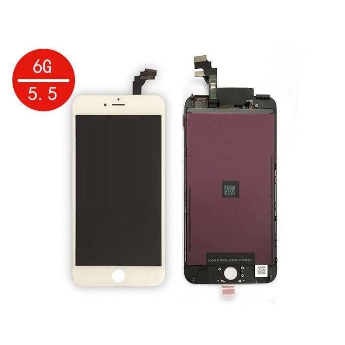 ecran lcd vitre tactile iphone 6 plus blanc achat ecran de t l phone pas cher avis et. Black Bedroom Furniture Sets. Home Design Ideas