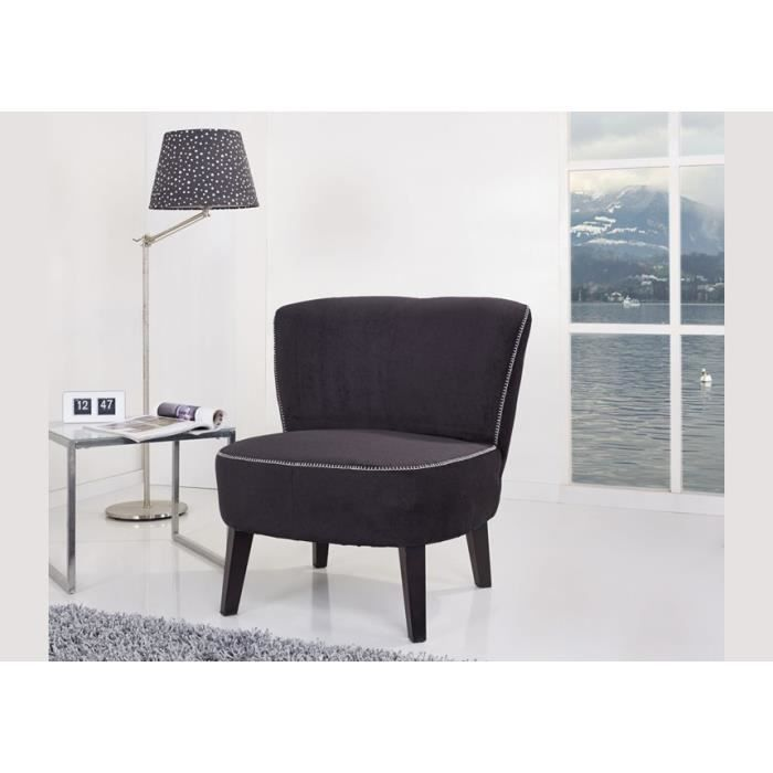 Fauteuil tissu noir crapaud achat vente fauteuil polyester pin soldes - Soldes fauteuil crapaud ...