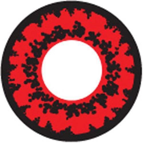 Lentilles rouges avec motifs noirs d mon vamp rouge for Domon bijouterie