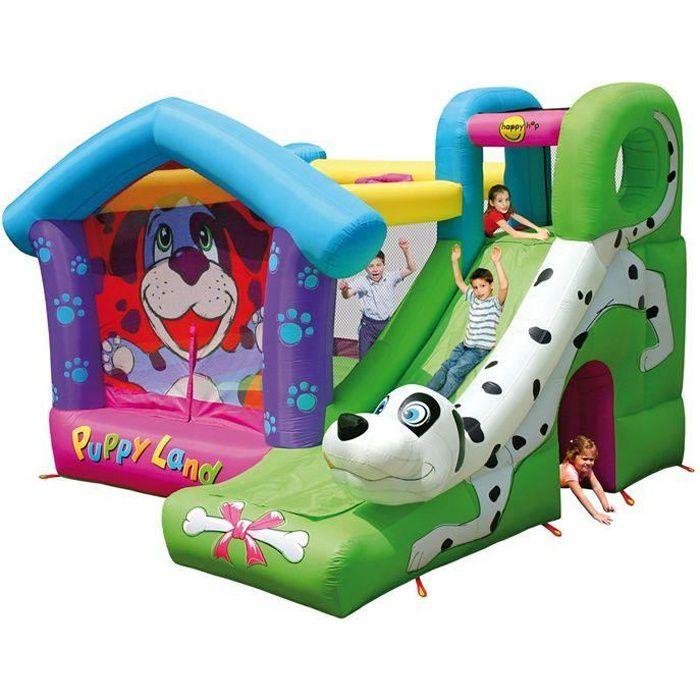 ch teau gonflable puppyland 350x340x245 cm achat vente aire de jeux gonflable soldes. Black Bedroom Furniture Sets. Home Design Ideas