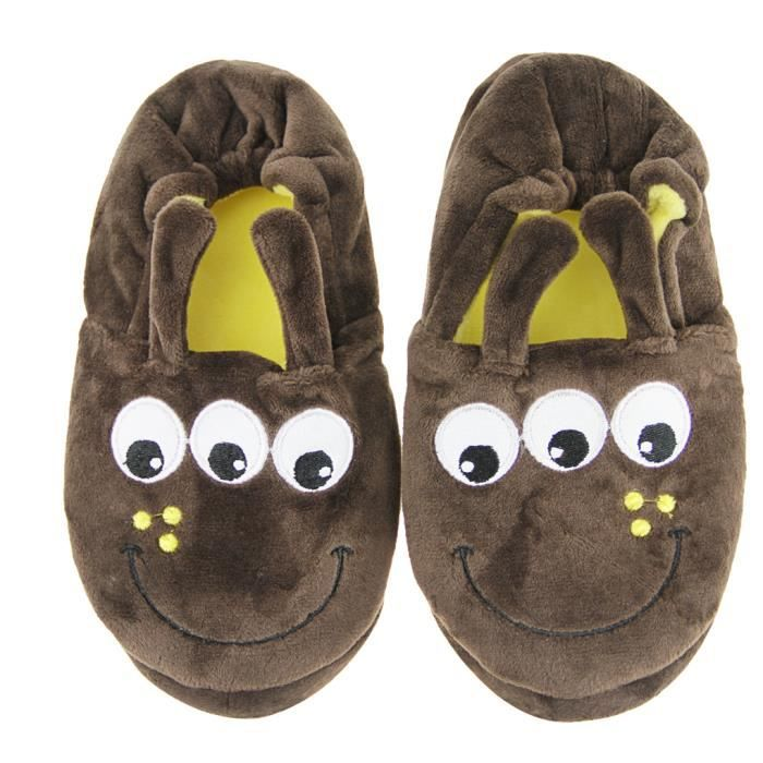 chaussons b b peluches pantoufles 3d animal cartoon home slippers chaussures enfant. Black Bedroom Furniture Sets. Home Design Ideas