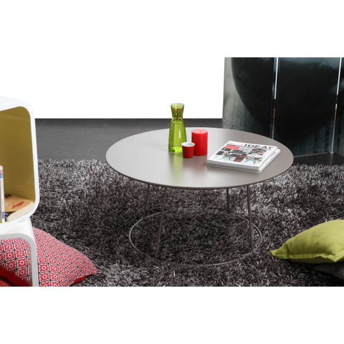 miliboo table basse design taupe kaly achat vente table basse miliboo table basse desig. Black Bedroom Furniture Sets. Home Design Ideas