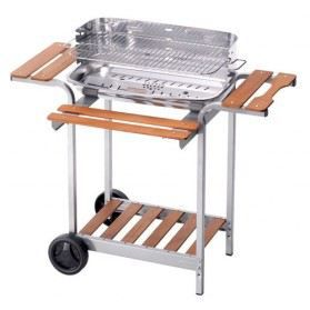 barbecue inox sur chariot 60x36x96cm ompagrill achat vente barbecue barbecue inox sur. Black Bedroom Furniture Sets. Home Design Ideas