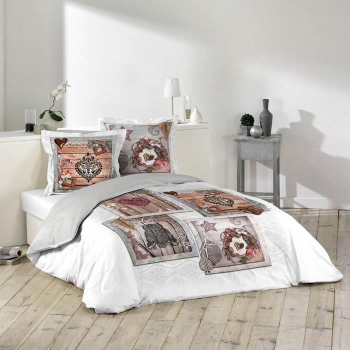 Paris prix parure de lit 3 pi ces forestia 220x240cm for Parure de lit paris