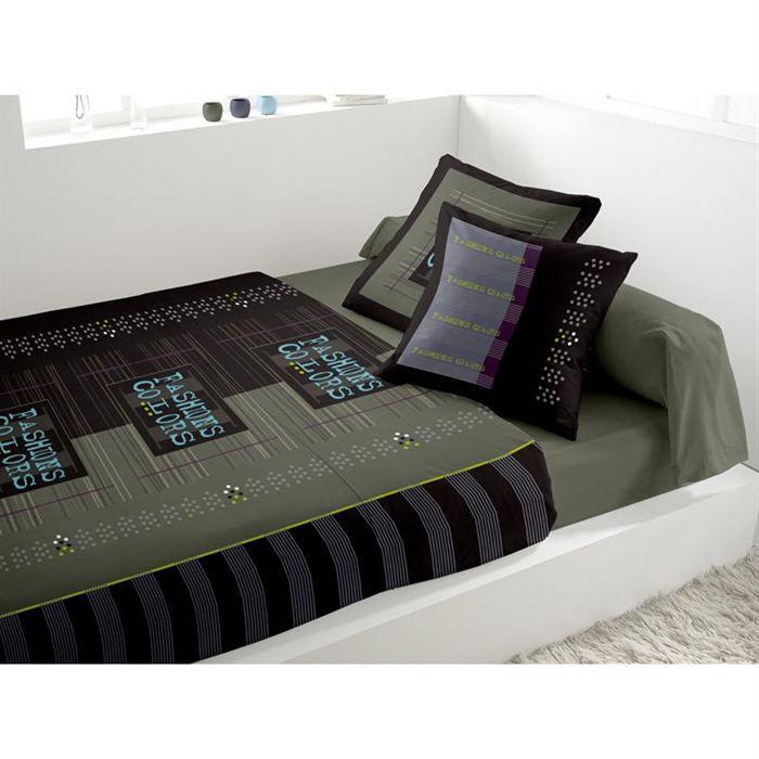 parure de lit 4 pi ces soleil d 39 ocre achat vente parure de drap cdiscount. Black Bedroom Furniture Sets. Home Design Ideas
