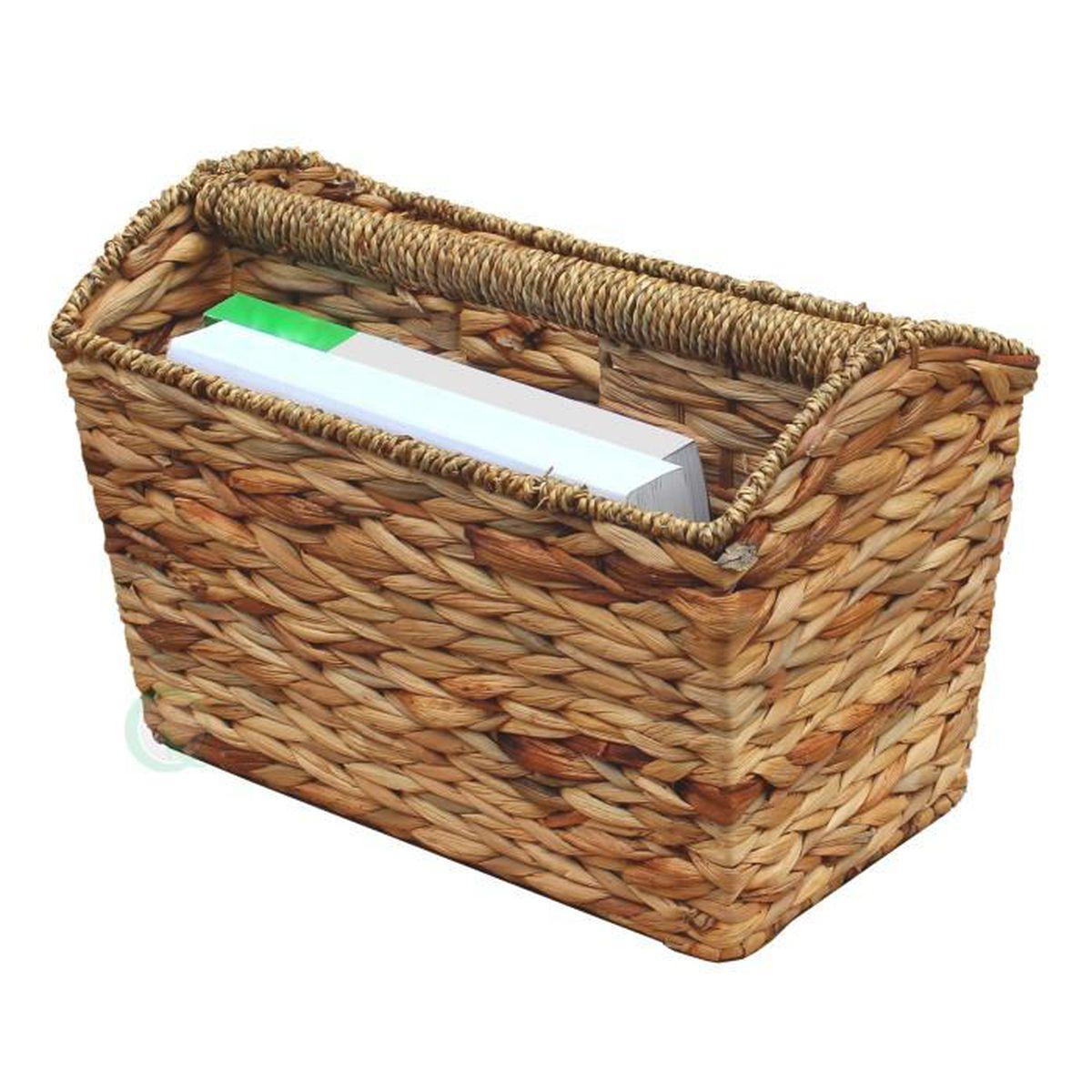 Vintiquewise tiss porte revues en bois marron clair for Porte revue en bois
