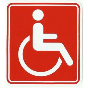 autocollant handicape achat vente autocollant handicape pas cher cdiscount. Black Bedroom Furniture Sets. Home Design Ideas