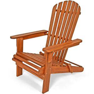 Chaise bois exterieur achat vente chaise bois for Transat en bois pliable