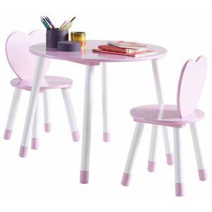 CHAISE Set de table + 2 chaises enfant Princess en bois b