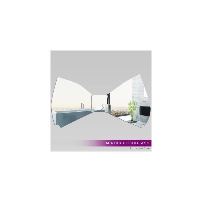 Miroir plexiglass acrylique noeud papillon ref mir 091 for Miroir qui s accroche a la porte