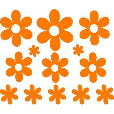 stickers voiture fleurs pour r tro et vitres 31 x 26 cm. Black Bedroom Furniture Sets. Home Design Ideas