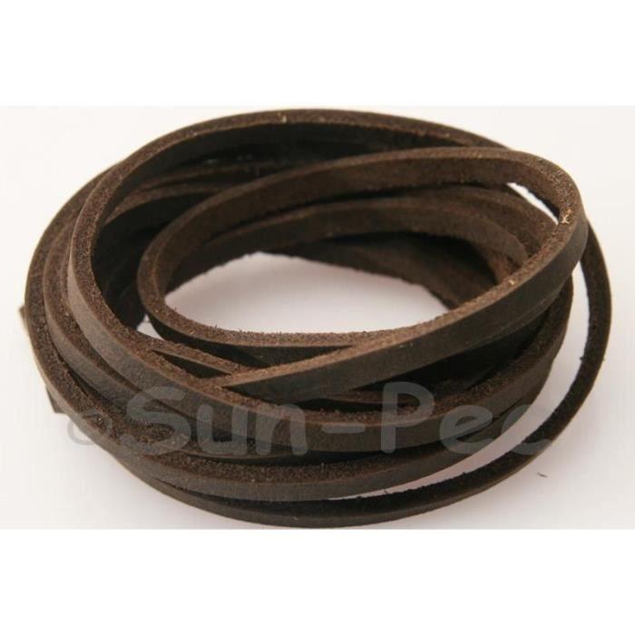 laniere de cuir plat pour bijoux bracelet 1m achat vente fil tour de cou laniere de cuir. Black Bedroom Furniture Sets. Home Design Ideas