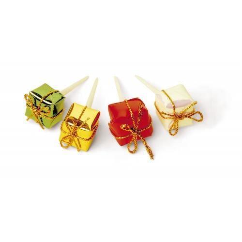 Boite 100 mini paquets cadeaux piques decor noel achat for Achat decoration de noel