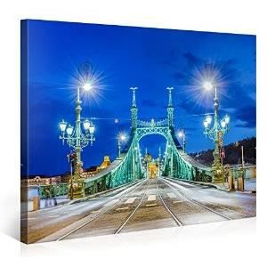 Tableau deco moderne beautiful bridge in budapes achat for Tableau pret a accrocher