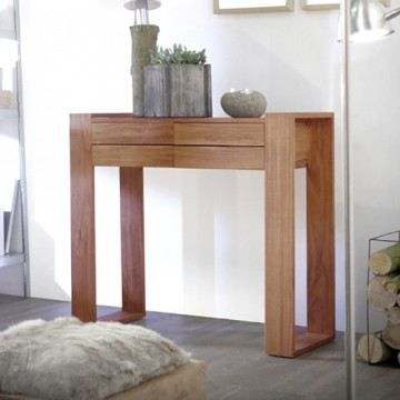 console meuble d 39 appoint en bois de teck massif achat. Black Bedroom Furniture Sets. Home Design Ideas