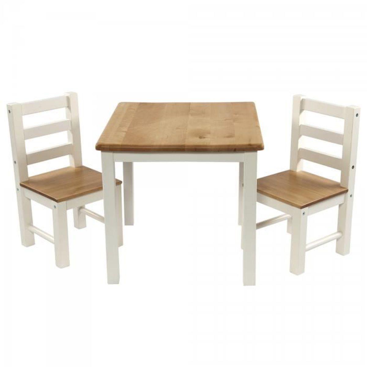 Ensemble table et deux chaises en bois pour enfants design - Ensemble de meuble pour bebe ...