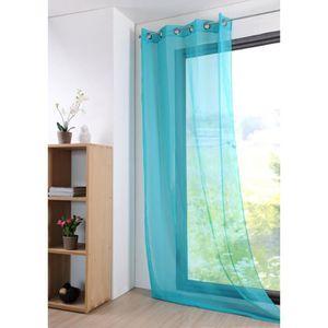 rideaux voilage turquoise achat vente rideaux voilage. Black Bedroom Furniture Sets. Home Design Ideas