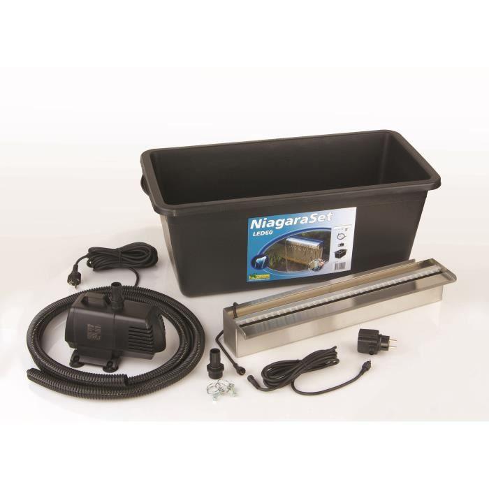 Kit lame d 39 eau niagara led 60 avec pompe acc achat for Pompe pour bassin avec cascade