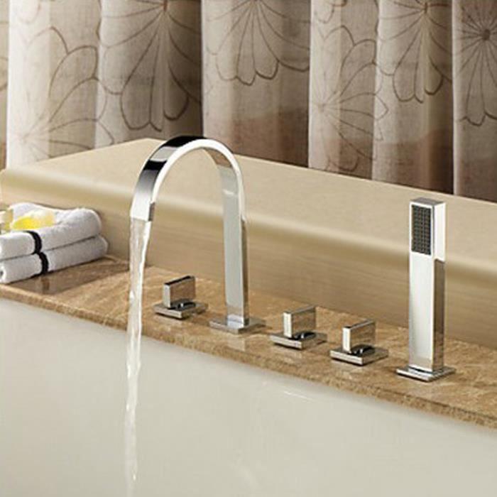 toutes baignoire de cuivre de cinq pi ces divis de pointe sit cylindre 5 trous baignoire bord. Black Bedroom Furniture Sets. Home Design Ideas