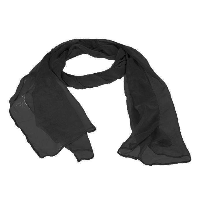 echarpe foulard tole chle charpe color en mousseline transpare - Etole Noire Pour Mariage