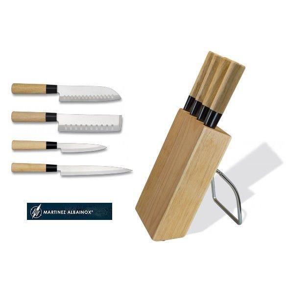 support 4 couteaux japonais avec santoku achat. Black Bedroom Furniture Sets. Home Design Ideas