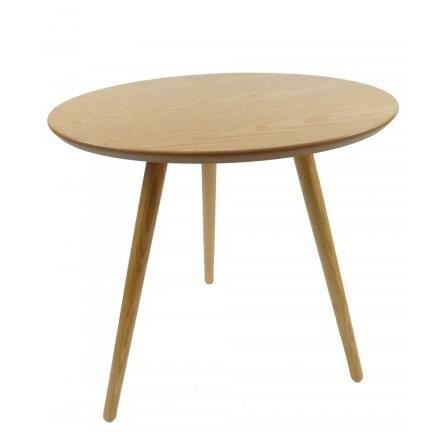 Table basse tripode ronde design en ch ne and achat for Table ronde en chene
