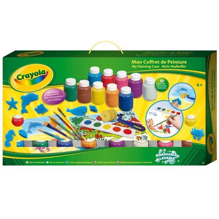 crayola la malette de peinture achat vente jeu de peinture soldes cdiscount. Black Bedroom Furniture Sets. Home Design Ideas