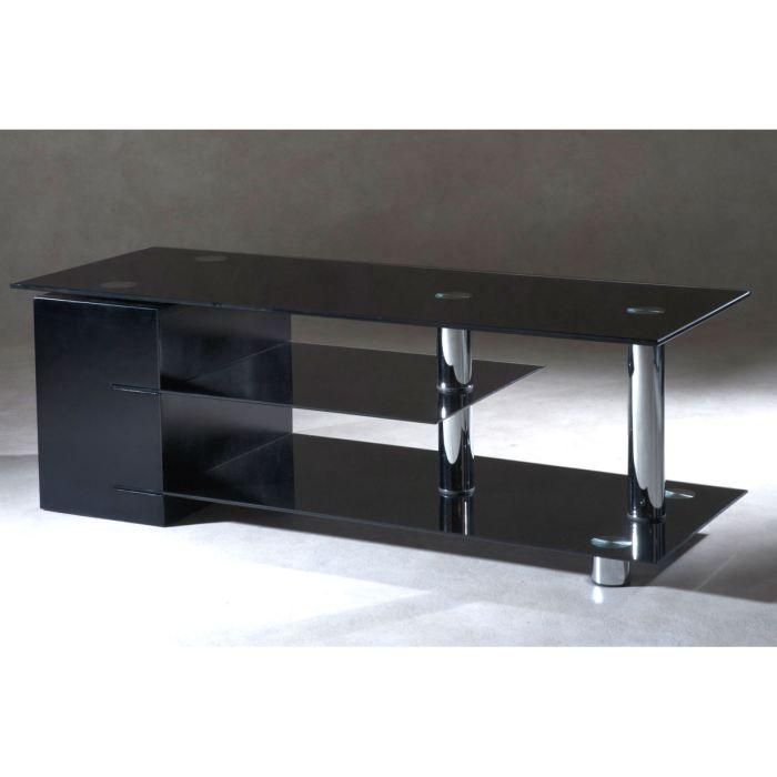 meuble tv design structure mdf 3 verres sarry achat vente meuble tv meuble tv design cdiscount. Black Bedroom Furniture Sets. Home Design Ideas