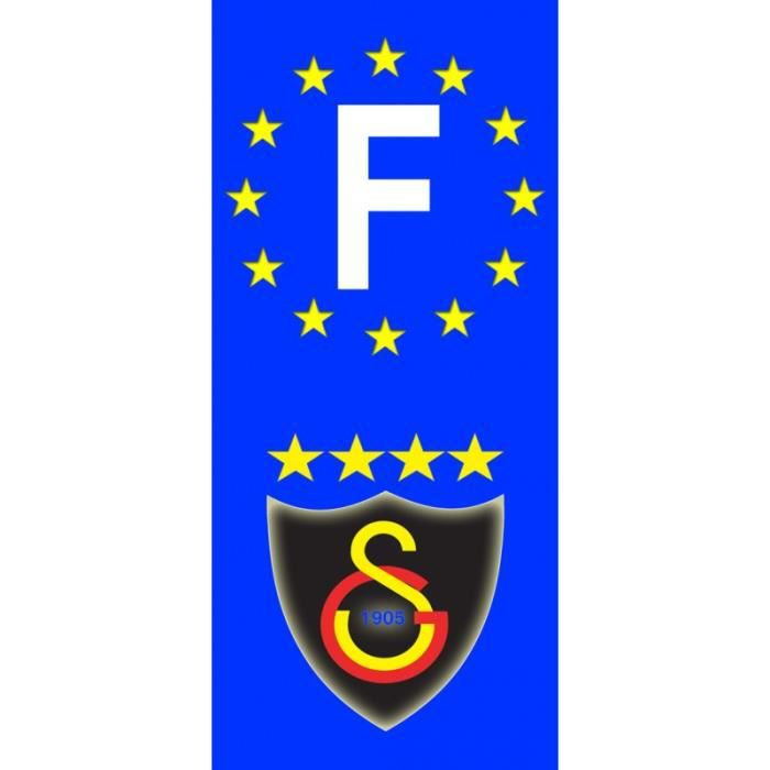 2x stickers plaques d 39 immatriculation fond bleu 39 galatasaray fc 2 39 f achat vente stickers. Black Bedroom Furniture Sets. Home Design Ideas