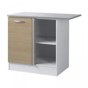 Paris prix meuble bas d 39 angle 100 cm smarty naturel for Meuble bas prix