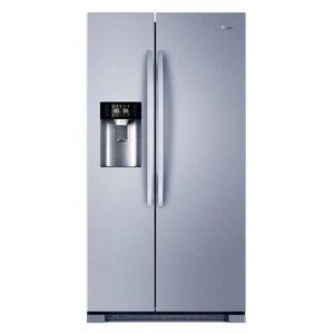 HAIER HRF550AS - Réfrigérateur américain - 550L (375+175) - Froid ventilé - A+ - L 90cm x H 179cm - Silver