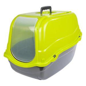 Maison de toilette + couvercle - 57x39xH41 cm - Vert anis - Pour chat