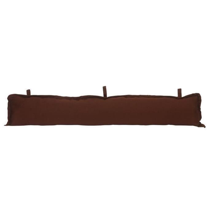 Home stories boudin bas de porte 16x90 cm chocolat achat vente boudin de porte 100 coton for Boudin de porte 100 cm
